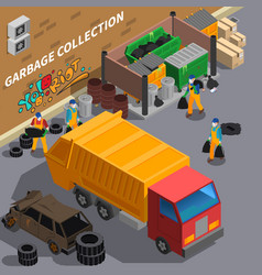 Garbage collecting truck composition vector