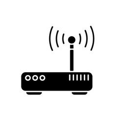 gateway black glyph icon vector image