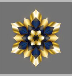 Golden luxury background gold snowflake vector