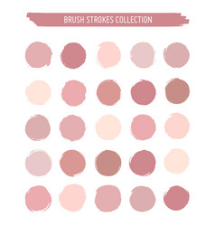 grunge circle brush strokes and stains vector image