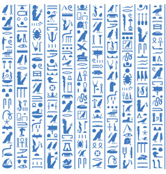 Hieroglyphs ancient egypt dark blue vector