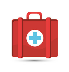 Hospital suitcase icon image vector