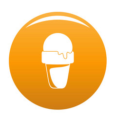 ice cream summer icon orange vector image