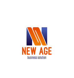 icon for business solution company vector image