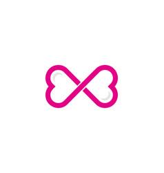 infinite love logo icon design vector image