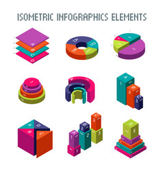 Infographic isometric elements 3d pie vector