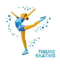 Ladies figure skating skating girl - ice show vector