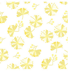 linden blossom hand drawn seamless pattern vector image