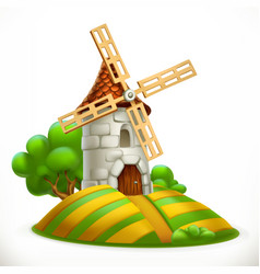 mill 3d icon vector image