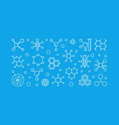 molecule chemistry outline or vector image