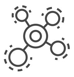 molecule icon outline style vector image