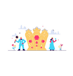 Monarchy flat tiny vector