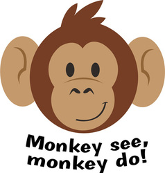 Monkey See vector image