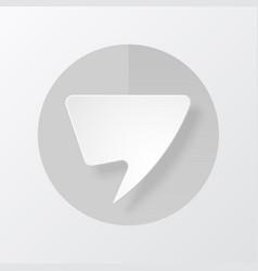 paper speech bubble vector image