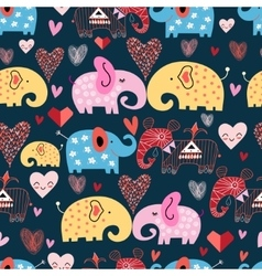 Pattern of elephants in the clouds vector