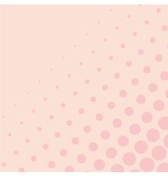 Pink background with big and small dots vector
