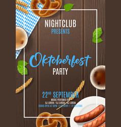 Promo flyer for oktoberfest party vector