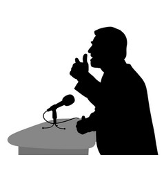 public speaking vector image