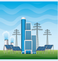 Renewable energy clean design vector