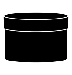 Round box icon simple style vector