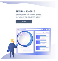 Search engine website color flat template vector