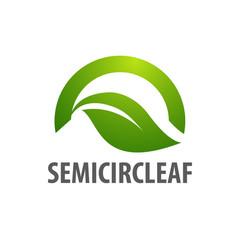 semicircle leaf logo concept design symbol vector image