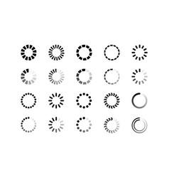 set loading bar progress icons isolated on white vector image