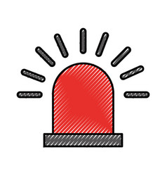siren alert isolated icon vector image