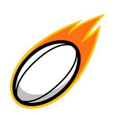 Sport ball fire rugby vector