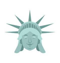 Statue of liberty sleeping emoji us landmark vector