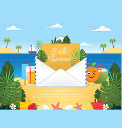 summer season with email vector image