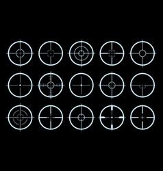 target on crosshair gun sniper sight icons vector image
