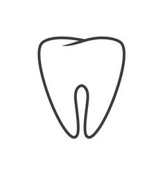 tooth icon or dental logo symbol line vector image