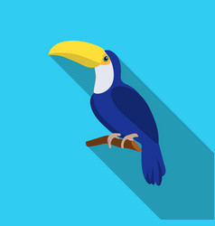 toucan icon in flate style isolated on white vector image