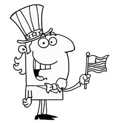 Uncle sam cartoon vector