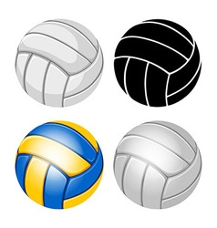 Volleyball balls set vector