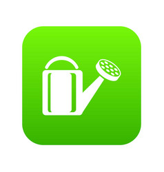 watering plant icon green vector image