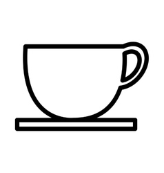 White coffee cup graphic vector