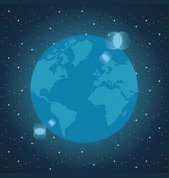 world map modern vector image