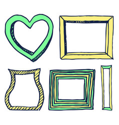 five colorful frames pictures vector image vector image
