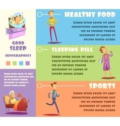 Sleep man infographic vector