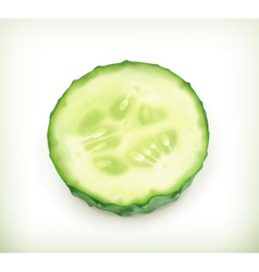 Slice of cucumber vector image vector image