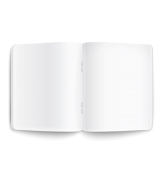 Blank opened copybook on white background vector image vector image