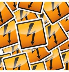 danger symbols icon vector image vector image