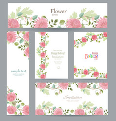 graceful collection of greeting cards with vector image vector image