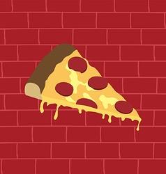 Tasty pizza slice vector