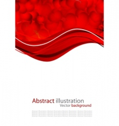 abstract background with red heart vector image vector image