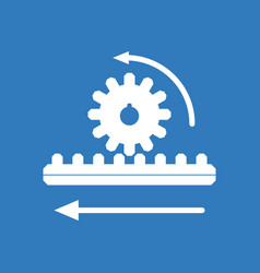 icon during gear vector image vector image