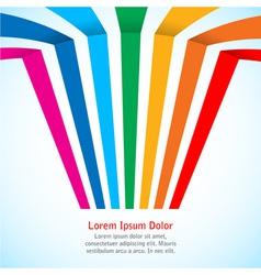 Rainbow stripes on light background vector image
