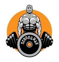 T-shirt design for bodybuilders and fitness vector image vector image